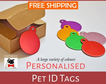 Pet tag | Cat Tag | Cat ID personalised - cat tag with a bell, dog tag, pet id engraved - Cat and dog collar tag - Thanksgiving gift