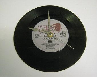 "Wham - Club Tropicana - 7"" Vinyl Record Wall Clock Gift"