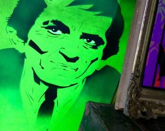 black light poster art of Dark Shadows character Barnabas Collins