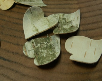 Wedding 50 confetti hearts - Eco  Natural heart confetti , weddings decoration  natural birch