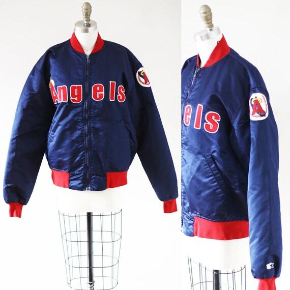 1980s Angles bomber jacket //1980s baseball bomber jacket  // vintage bomber jacket