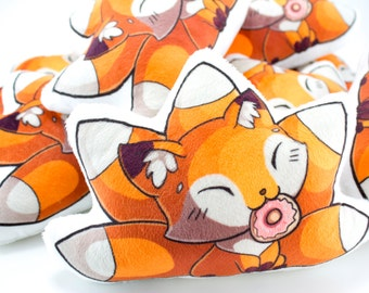 Cute Fox Pillow Plushie, Plush Toy, Stuffed Animal