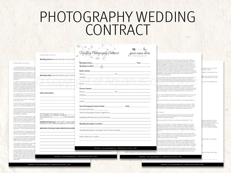 Wedding photography contract business forms butterfly flowers zoom cheaphphosting Image collections