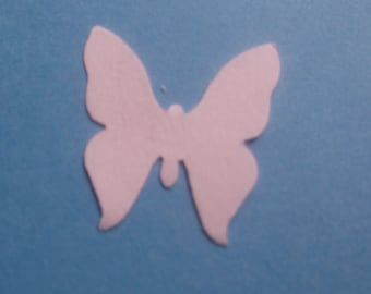 White cardstock Butterfly Confetti Punches-50 Count