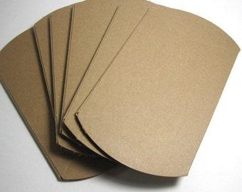 Plain Kraft Pillow Boxes, 3.5x3x1 - Wholesale, Pack of 300