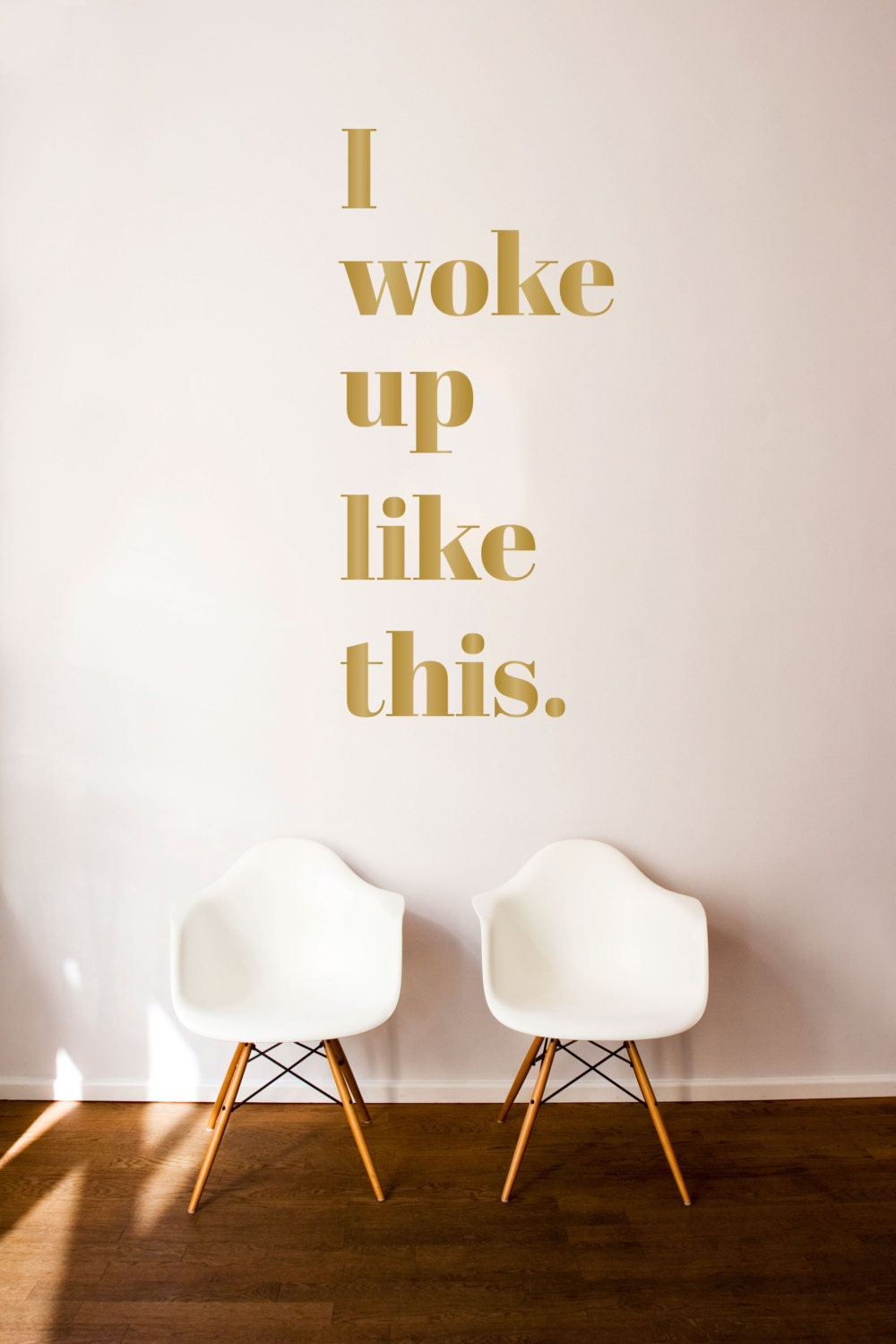I woke up like this quote wall decal custom vinyl art zoom amipublicfo Image collections
