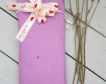 Lavender scented eye pillow. Yoga, meditation, stress relief, sleeping aid.