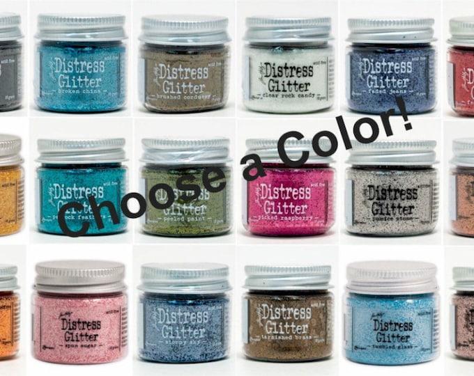 Tim Holtz Dry DISTRESS GLITTER Jar by Ranger - Choose a Color!