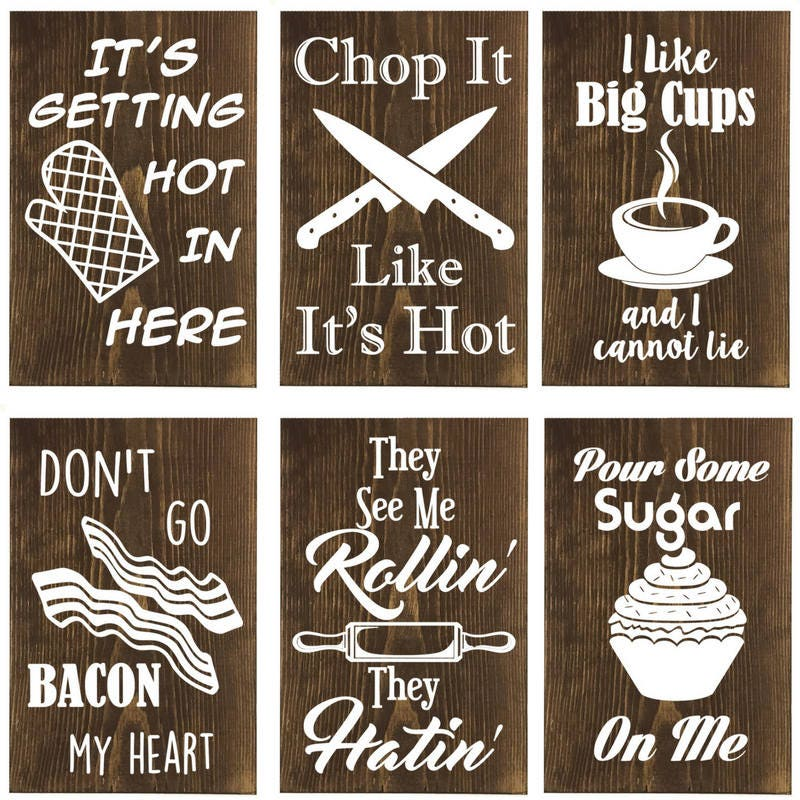Kitchen Signs For Sale: CHOOSE ANY 6 Funny Wooden Kitchen Sign Wall Decor Kitchen