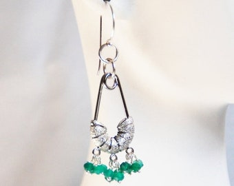 Mothersdaysale Green Quartz  Chandelier Earrings-  Dangle Drop Earrings