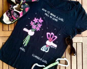 Girls vs climber girls t-shirt