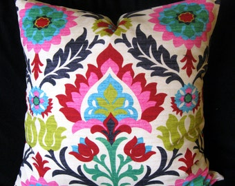 pink red waverly pillow cover 24 X 24