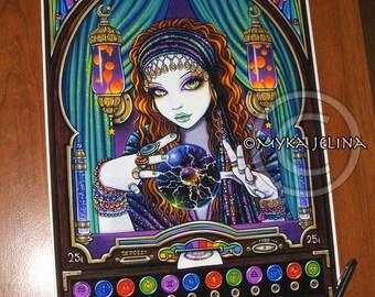 Lumina BIG Print Signed Gypsy Seer Celestial Astrology Fortune Teller Machine Zodiac