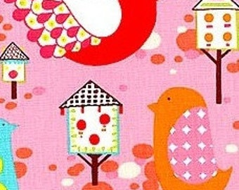 Willow Wren Pink Alexander Henry Cotton Fabric