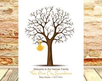 Baby Shower Thumbprint Tree, Baby Shower Guestbook Alternative, Baby Shower Guestbook, Baby Shower Gift, Keepsake Thumbprint Tree