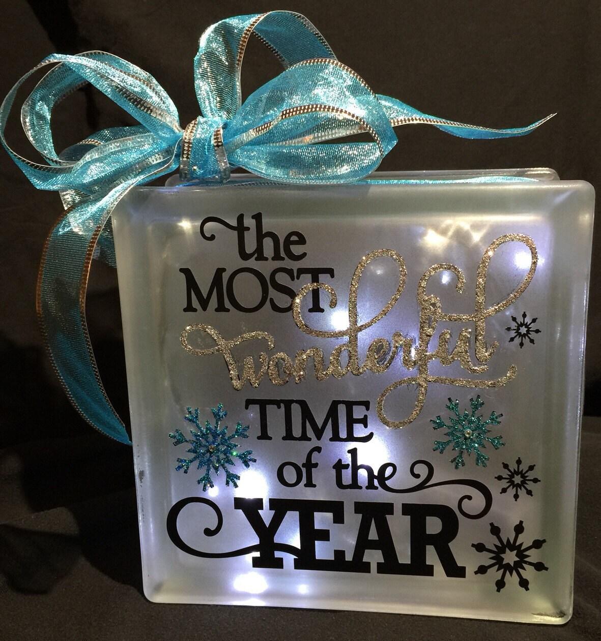 Holiday Decor Decal Glass Block Light Decal Christmas Gift