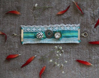 Bohemian romantic style cufflinks/Cuff Bracelet