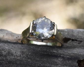 Huge smokey quartz, brown grey quartz, champagne quartz, 9ct gold gemstone, 9.5mm gemstone, statement ring, cocktail ring, collectors piece