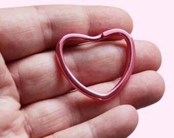 Heart Shaped Colorful Keyring