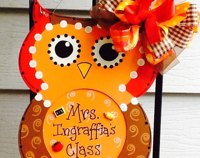 teacher sign, classroom sign, owl sign, school sign, fall sign, fall door sign, teacher door sign, classroom door sign, classroom sign