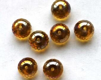 7  10mm Iridescent Rhondelles