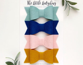 Limited Edition Headband or Clip Set of Felt Hair Bows | M2M Made to Match Matilda Jane and Joanna Gaines Collection