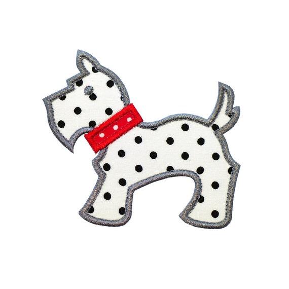 Scottie Dog Applique Machine Embroidery Design Patterns 2