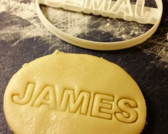 Personalized Name Cookie Cutter birthday gift Custom