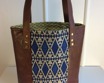brown bag, faux leather