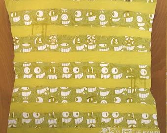 Plankton Faces throw pillow