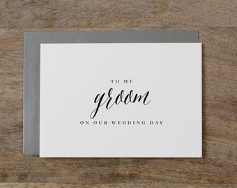 To My Groom On Our Wedding Day, I Can't Wait To Marry You, Wedding Card to Groom, Wedding Day Card, Wedding Cards, Future Husband Card, K7