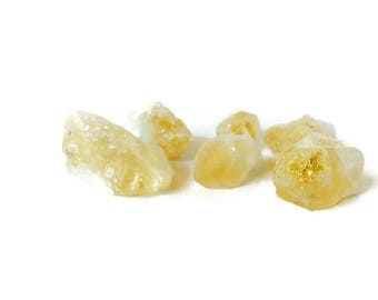Rough Citrine Crystal Raw Gemstone Medium Yellow Heated