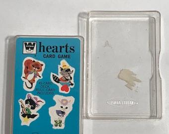 Vintage  hearts card game whitman wearern publishing co animals