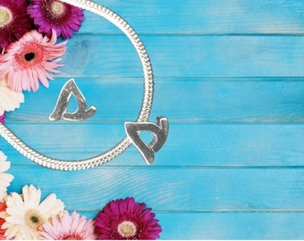 Lowercase 's' Sterling Silver Charm Necklace With Gift Box