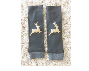 Baby Legs- Reindeer baby leg warmers