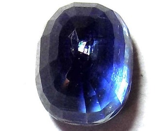 40% Sale -- Kyanite, Cut Stone, Oval Shape, 1 pc, 8 x 10 mm Size.