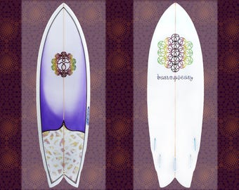 "Fish Surfboard • Crest • 5'8"" • basimpleasy x Moura Shapes & Designs"
