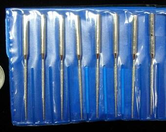10 diamond drill bits, tapered reamer drill bits tips drill stone, metal, carve or texture metals T030b