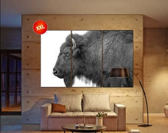 buffalo wall decor art  buffalo  black white  buffalo  canvas wall art  canvas wall art