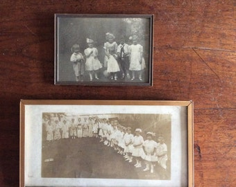 Two Vintage Photographs of Children