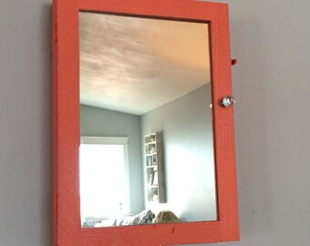 Medicine Cabinet With Mirror, Bathroom Mirror, Bathroom Storage, Farmhouse Medicine Cabinet, Shabby Chic Medicine Cabinet, Bathroom Cabinet,