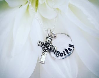 Lovely Cross Necklace in sterling silver
