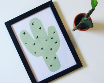 Botanical Cactus Print