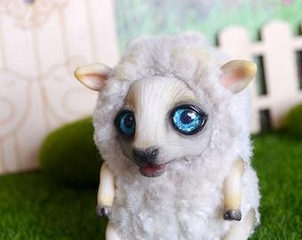 Sheep art doll art toy handmade ooak Fantasy Creature