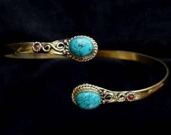 Arm cuff, Armlet, Armband , Upper Arm cuff, Brass Arm Cuff,  Gypsy Armlet, Bracelet Armlet, Trible Armlet, Vintage Style, Boho