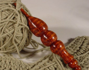 Exotic Rare Snakewood Hand Turned Wooden Crochet Hook by Bryan Tyler Nelson