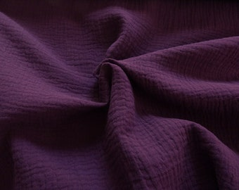 Double gauze solid purple 140 cm