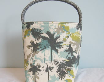 Book Club Tote - Abstract Palms Grey