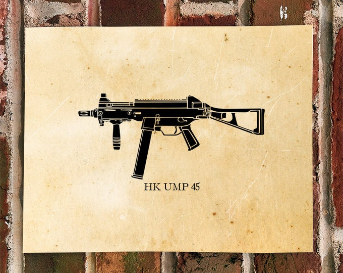 KillerBeeMoto: Light Arms Machine Gun UMP45 Limited Print
