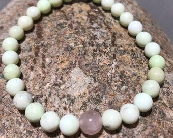 SELF FORGIVENESS BRACELET (chrysoprase & rose quartz)